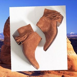 Sam Edelman Paige fringed booties ankle boot 7.5